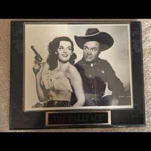 The Paleface Plaque. Bob Hope and Jane Russell.